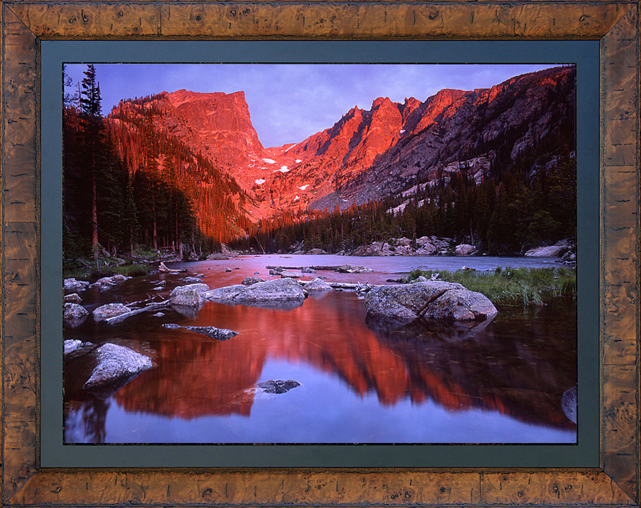 Framed Dream Lake Sunrise