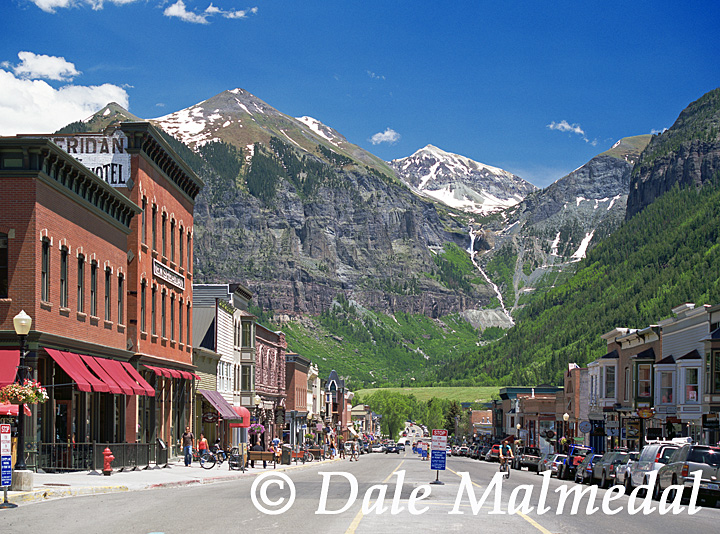 Telluride Spring downtown view